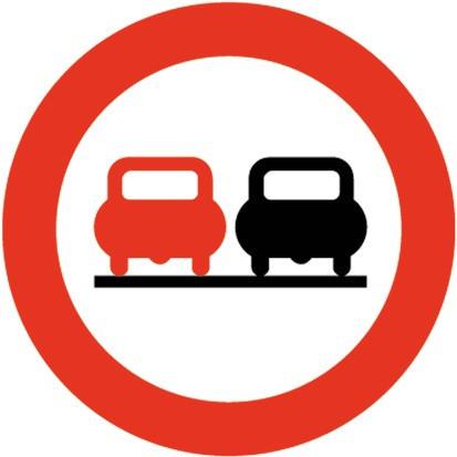 Baustellenverkehrszeichen § 52/4a Überholen verboten 480 x 1,5 mm