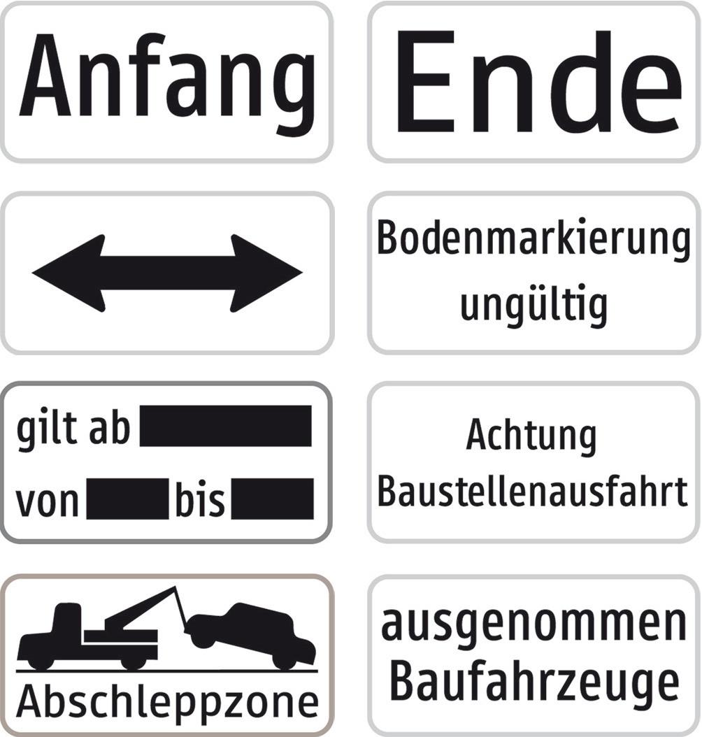 """Baustellenverkehrszeichen § 54/5""""Ende"""" Aluminium 310 X 150 x 1,5 mm"""