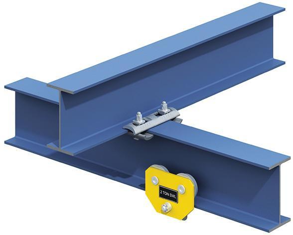Lindapter® Kreuzverbindung Typ FC - Stahl - verzinkt blau - FC16