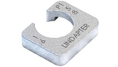 Lindapter® Unterlegscheibe Typ P2 - kurz - Stahl - verzinkt blau - P2S12