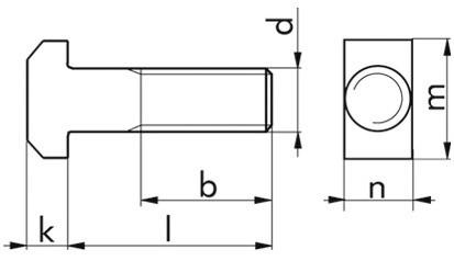 Hammerschraube DIN 188 - 8.8 - verzinkt blau - M8 X 25