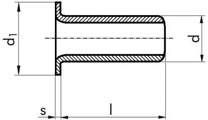 Rohrniete 5 x 15 DIN 7338 Form C Kupfer