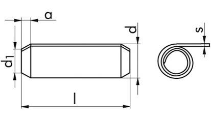 Spannhülsen 5 x 30 mm DIN 7343 (ISO 8750) Edelstahl rostfrei A2