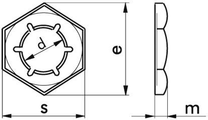 Sicherungsmutter DIN 7967 - Federstahl - verzinkt blau - M20 X 1,5
