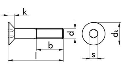 Senkschraube DIN 7991 - 08.8 - verzinkt gelb - M8 X 25