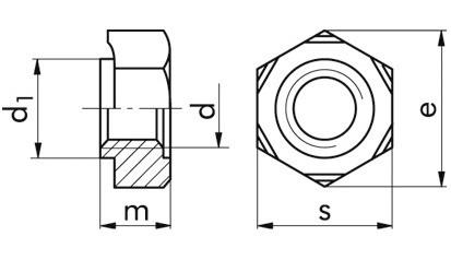 Schweißmuttern Sechskant M14 DIN 929 Stahl blank