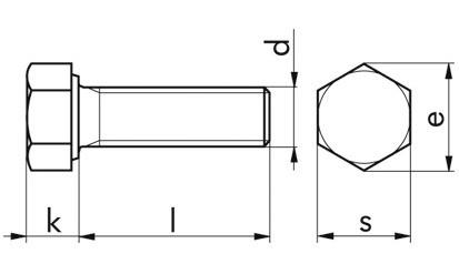 Sechskantschrauben M 10 x 35 DIN 933 FKL 10.9 Zinklamelle 720 H, C= 0,09-0,14