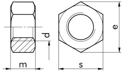 934 6-kant Mutter |10| FLZNNC-720H M 20