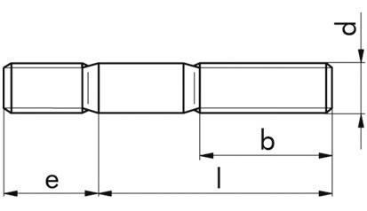 Stiftschraube DIN 938 - A2-70 - M8 X 28