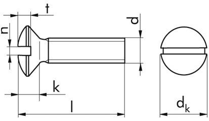 Gewindeschrauben m.Linsensenkkopf u.Schlitz M3 x 8 DIN964 Edelstahl rostfrei A4