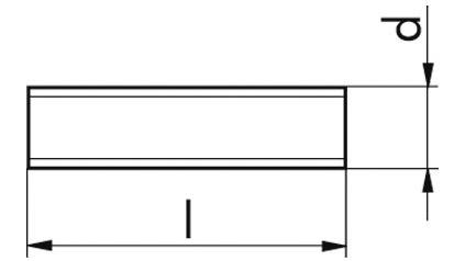 Gewindestücke M24x140 DIN 976 - 1 A FKL 8.8 Stahl verzinkt