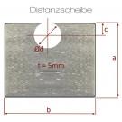 MTH - dištančné podložky + 5mm - oceľ - modré pozinkovanie - D14