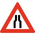 Baustellenverkehrszeichen § 50/8a Strassenenge beidseitig 700 x 1,5 mm