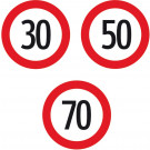 """Dopravná značka na stavbu, § 52/10a najvyššia dovolená rýchlosť """"30"""", 480x1,5 mm"""