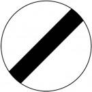Dopravná značka na stavbu, § 52/11 koniec viacerých zákazov, 480x1,5mm